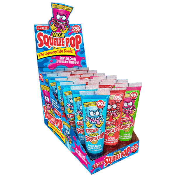 Bobby's Squeeze Pops Full Box